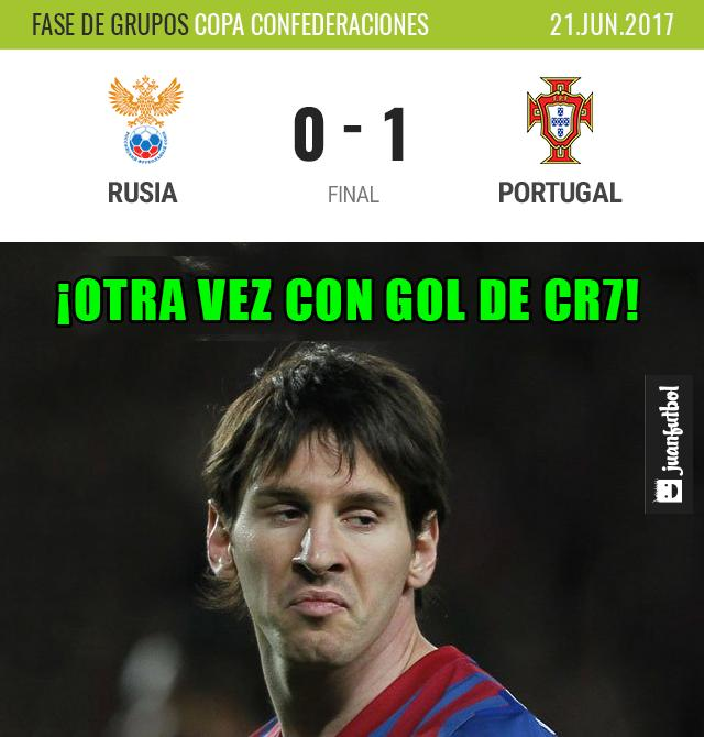 Crónica Rusia vs Portugal en la Copa Confederaciones 2017