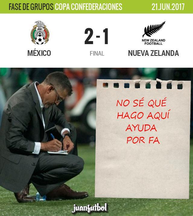 México gana a Nueva Zelanda
