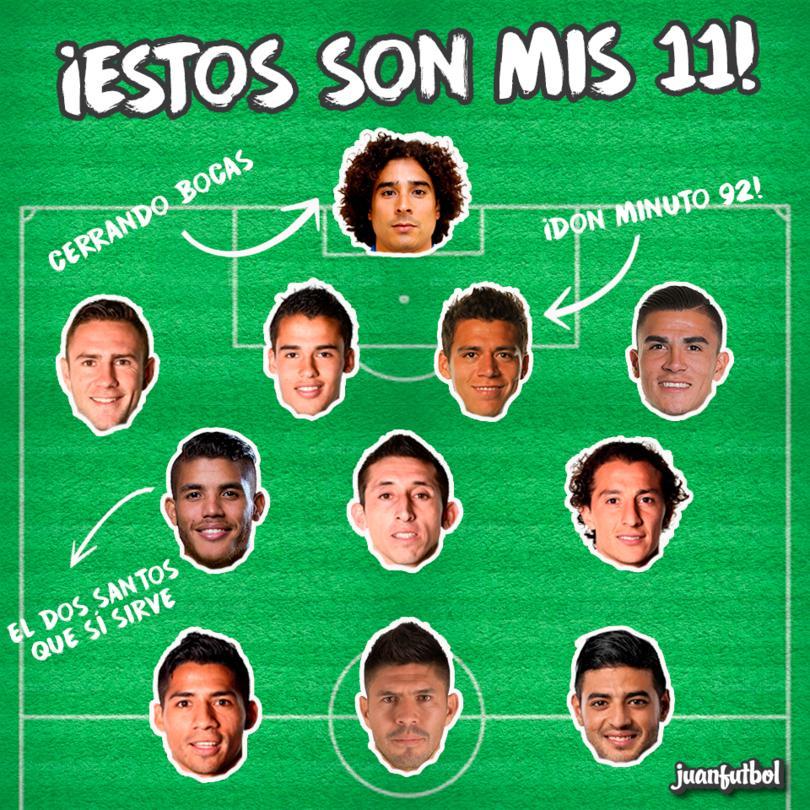 El 11 ideal del México de Osorio.