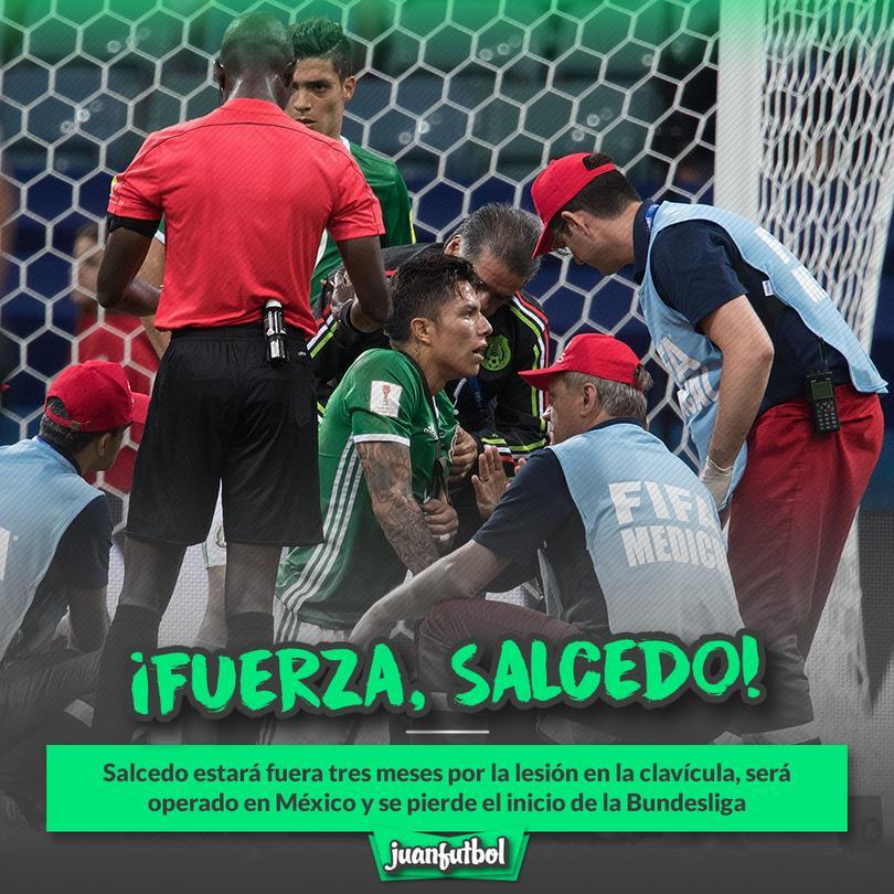 Carlos Salcedo estará fuera tres meses