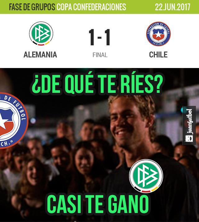 Alemania empata contra Chile
