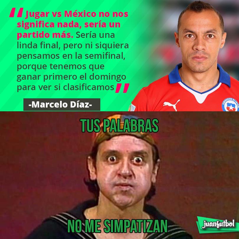 Marcelo Díaz dice que no les sería especial jugar contra México