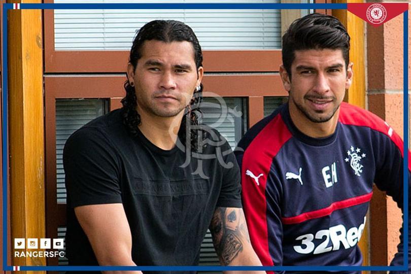 El Gullit y Herrera en el Rangers