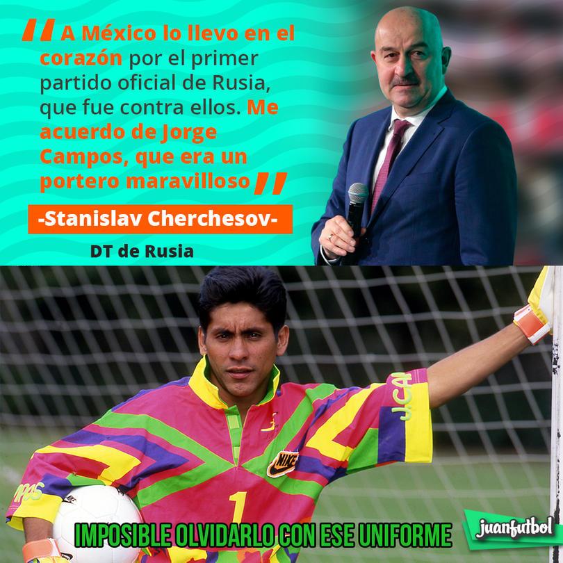 El entrenador de Rusia recuerda a Jorge Campos