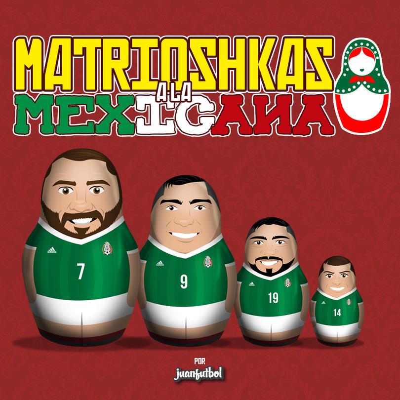 Matrioshka de la Selección Mexicana