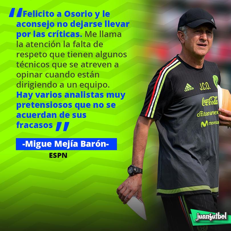 Miguel Mejía Barón defendió a Juan Carlos Osorio