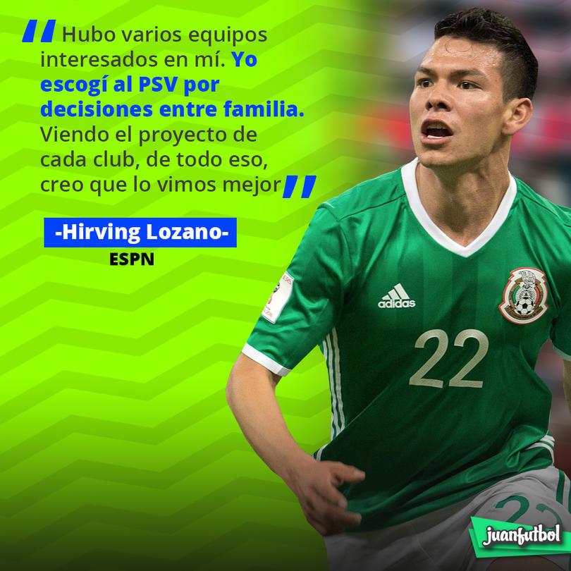 Chucky Lozano eligió al PSV por motivos familiares