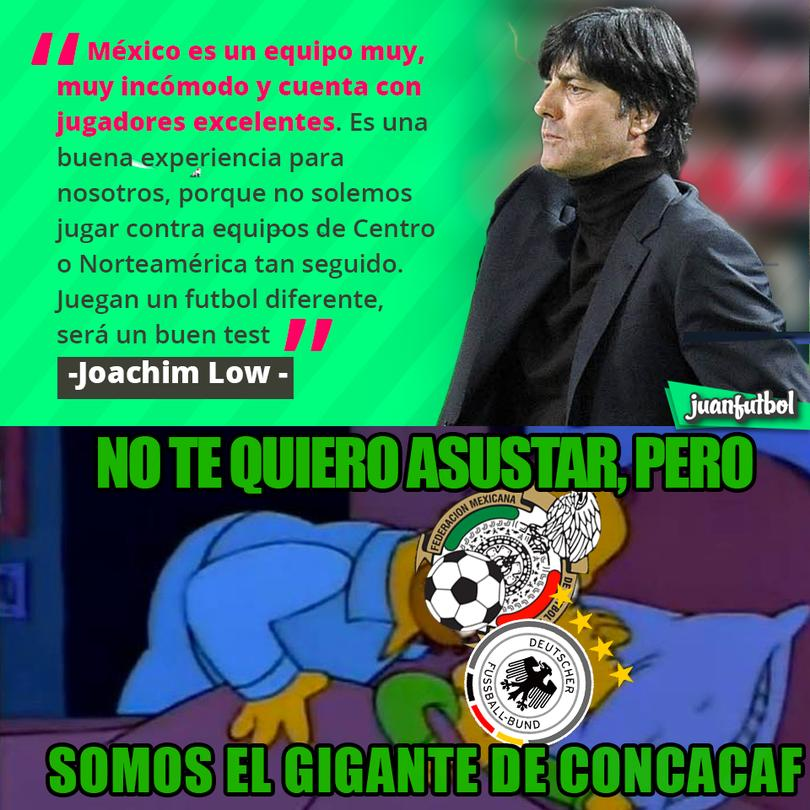 Joachim Low alaba a México y dice que es un equipo muy incómodo.