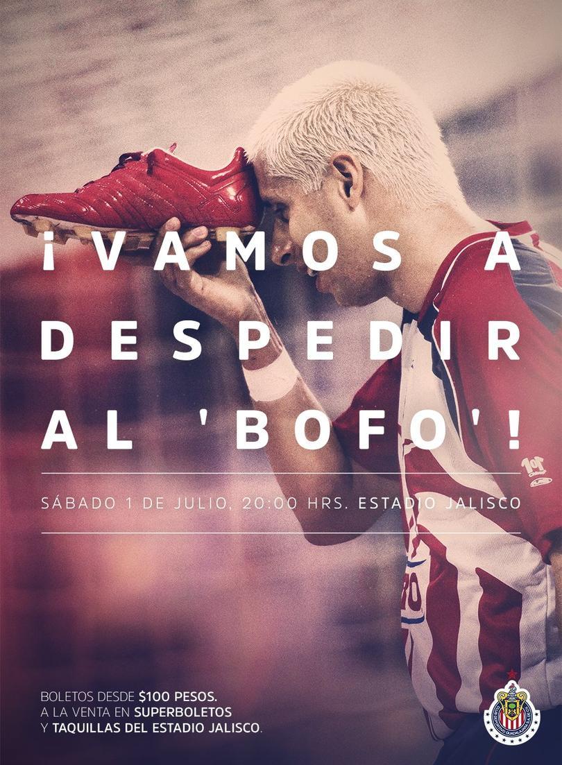 Chivas se sube al partido de retiro del Bofo Bautista con una imagen en redes sociales