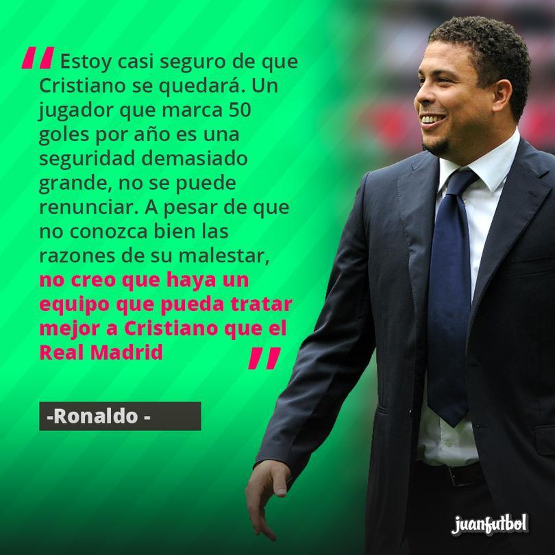 Ronaldo piensa que cristiano se debe quedar