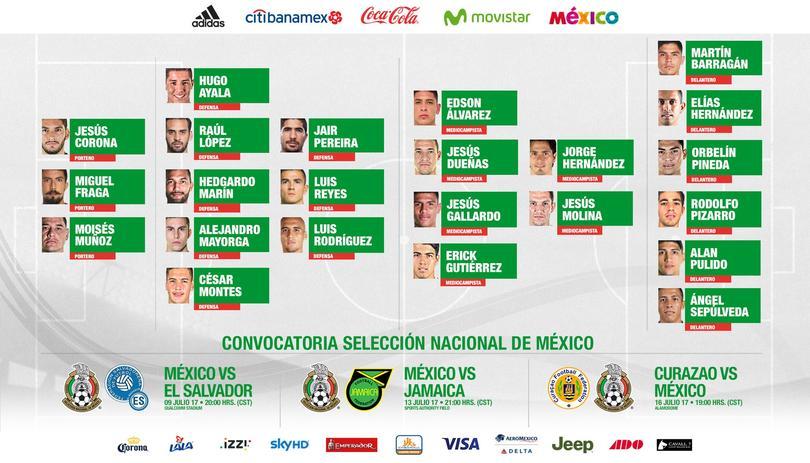 Lista oficial de la selección para Copa Oro