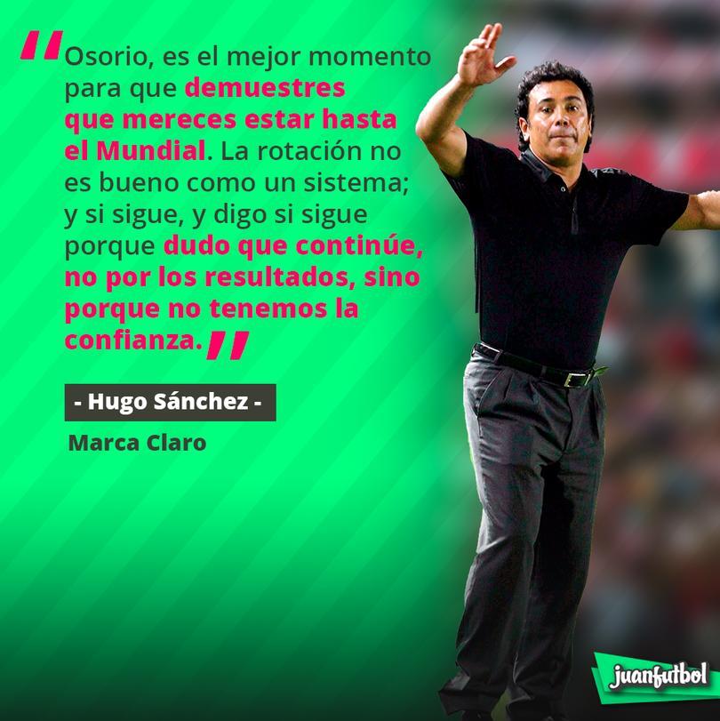 Hugo Sánchez duda que Osorio siga para el Mundial