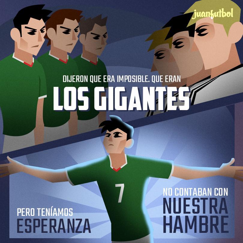 Cómic del Alemania vs México en 2011