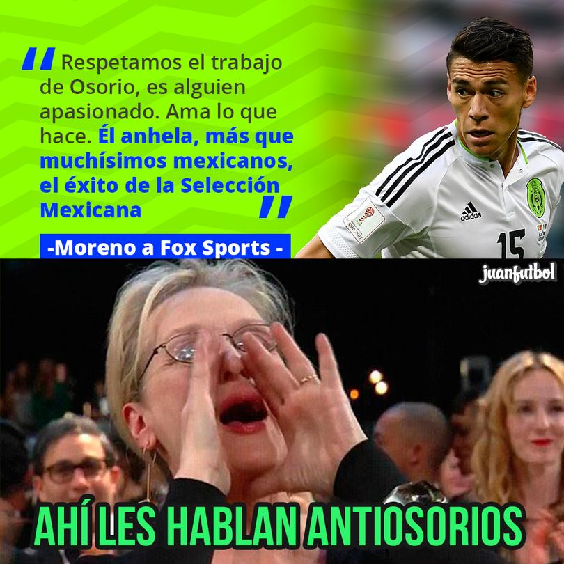 Moreno defendió a Osorio