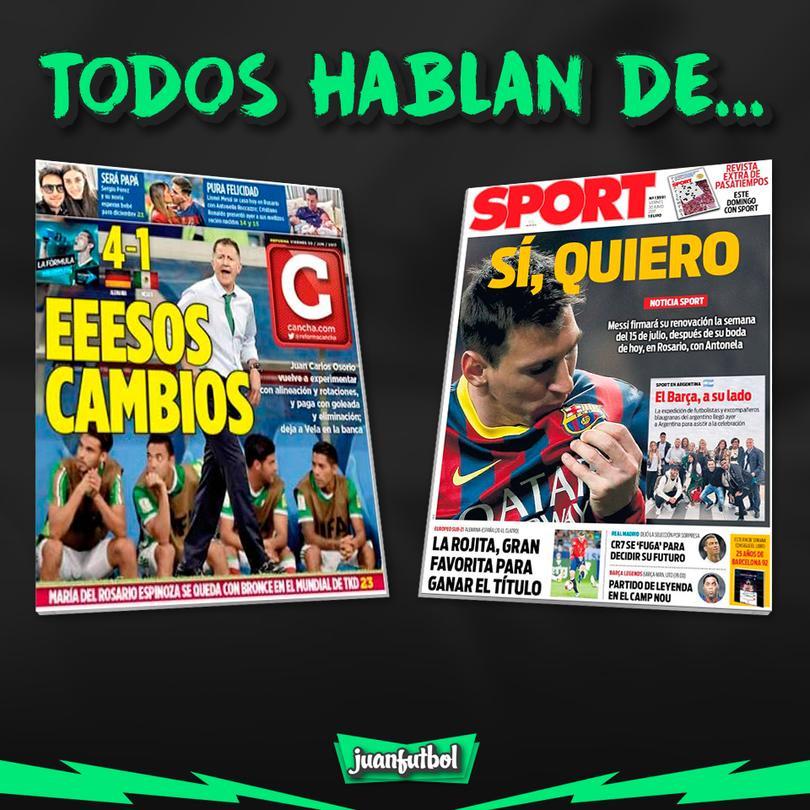 La prensa deportiva más importante del día 30 de junio del 2017.