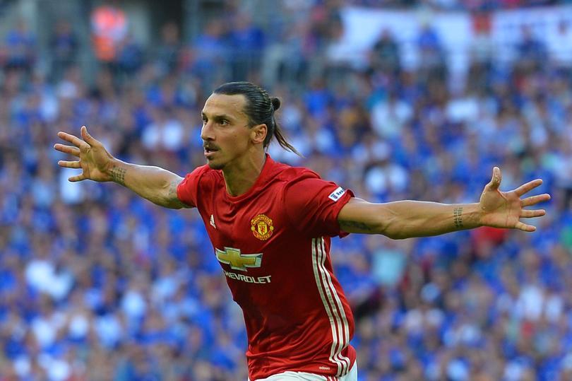Zlatan Ibrahimovic con Manchester United