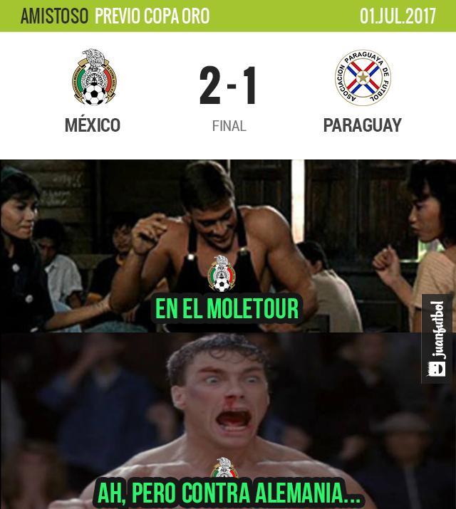 México venció 2-1 a Paraguay