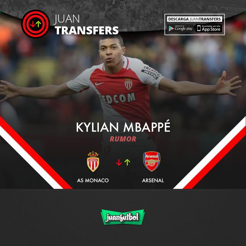Arsenal quiere llevarse a Mbappé