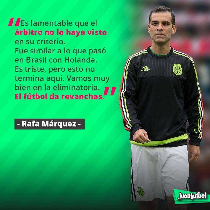 Rafael Márquez se queja del arbitraje