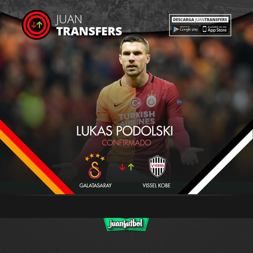 Podolski sale de Turquía y llega a Japón