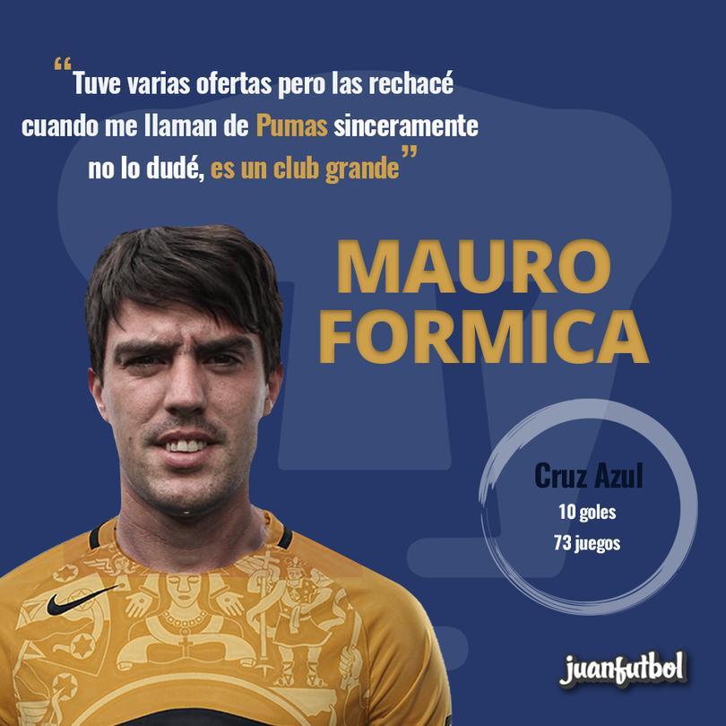 Mauro Formica regresa a México con los Pumas.