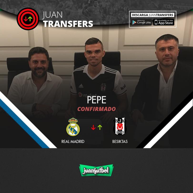 Pepe llega al Besiktas