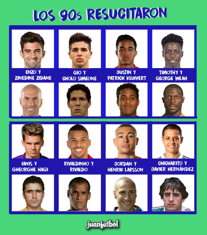 Los 90s están de regreso, los hijos de muchos futbolistas ya juegan.