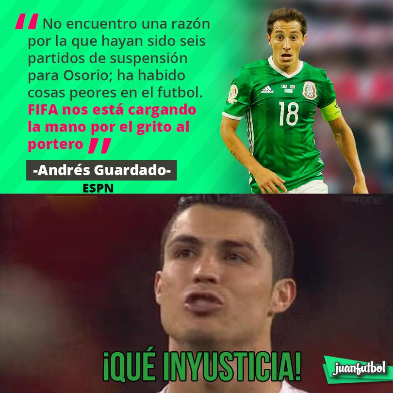 Guardado piensa que FIFA le cargó la mano a Osorio