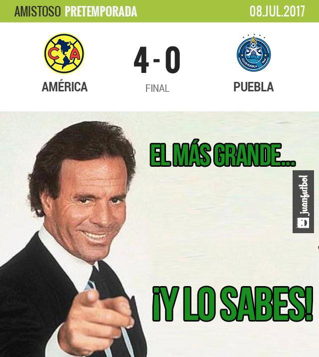 América goleó 4-0 al Puebla en Estados Unidos