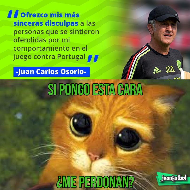 Juan Carlos Osorio ofreció disculpas por su comportamiento en el juego vs. Portugal
