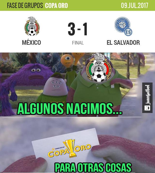 México venció 3-1 a El Salvador en su primer juego de Copa Oro