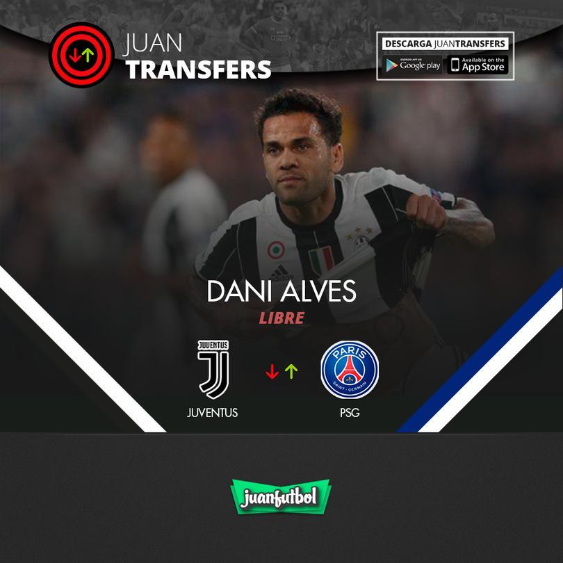 Dani Alves sale de la Juve y llega al PSG de Francia