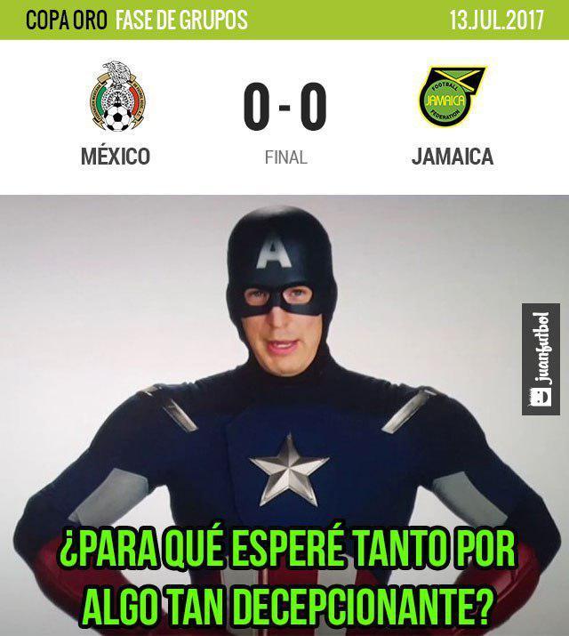 México empató 0-0 con Jamaica en Copa Oro