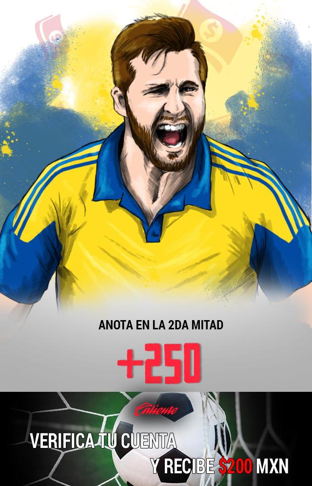 Si crees que Gignac anotará gol en la segunda mitad del partido vs Chivas por el trofeo de Campeón de Campeones, apuesta en Caliente y llévate mucho dinero.