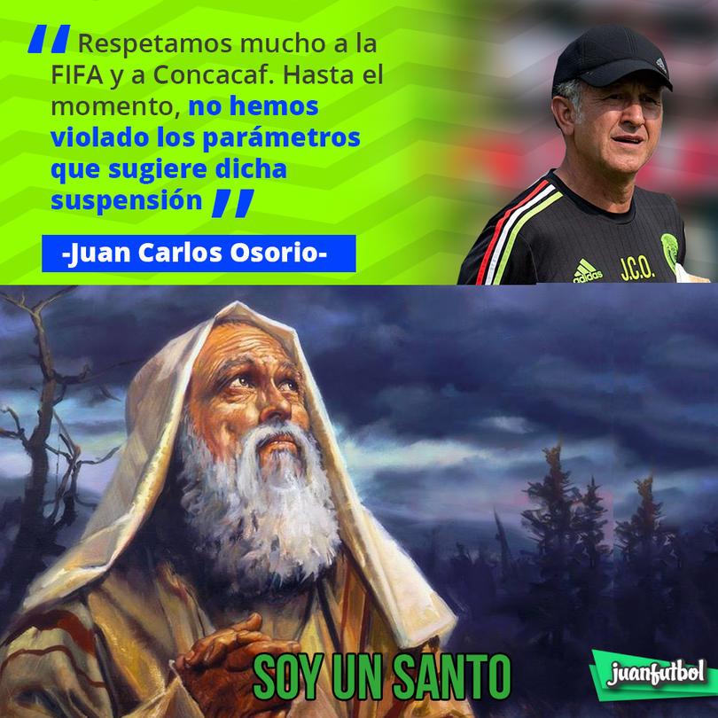 Osorio negó haber incumplido su suspensión