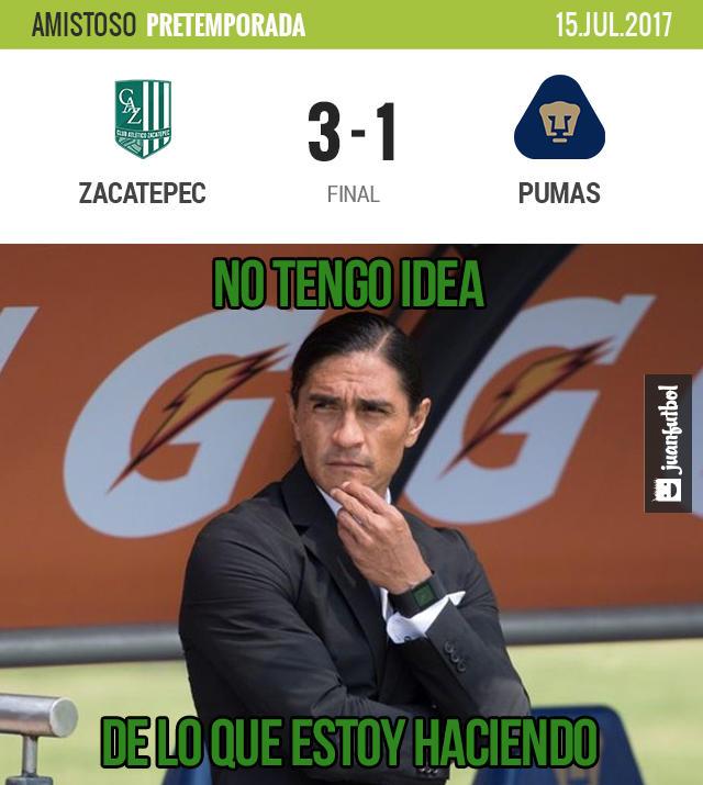 Pumas fue derrotado en amistoso por Zacatepec