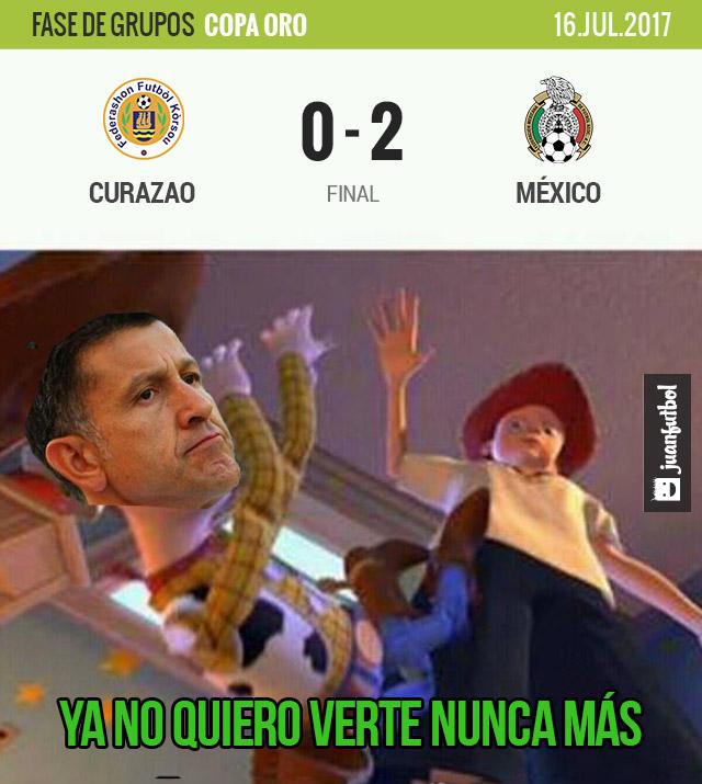 México venció 1-0 a Curazao en el último juego de la fase de grupos de la Copa Oro