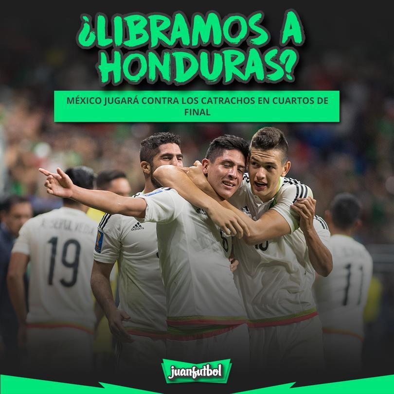 México se enfrentará a Honduras en cuartos de la Copa Oro 2017