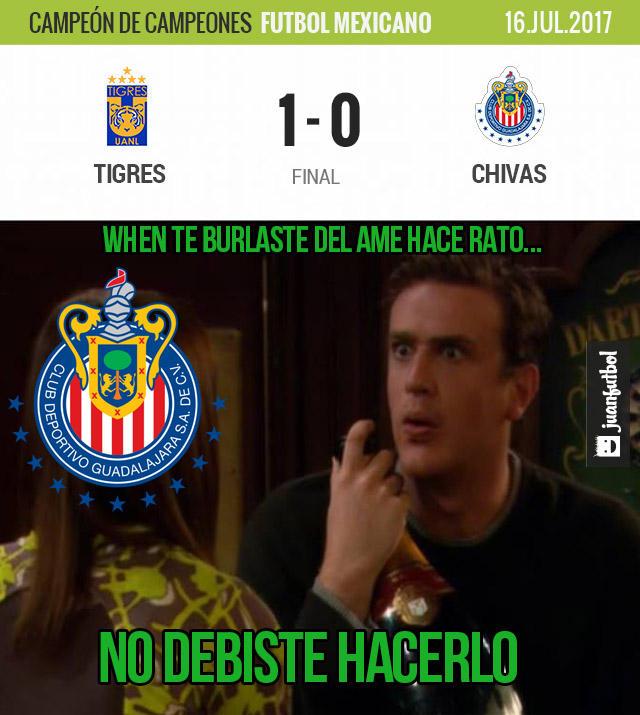 Tigres le ganó 1-0 a Chivas y es el campeón de campeones 2016-2017