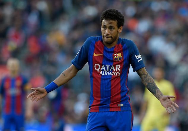 Neymar, durante un partido con el Barcelona.