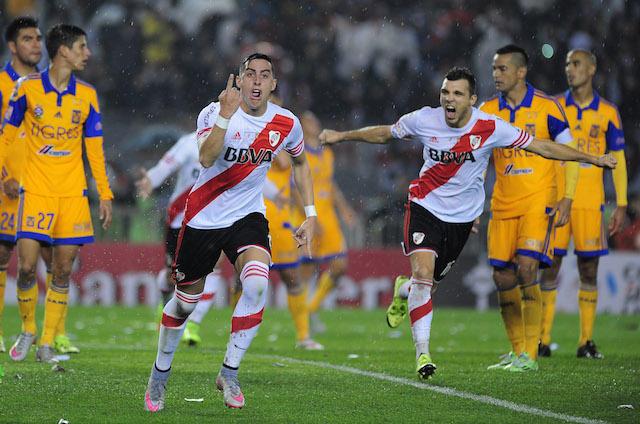 Tigres vs River Plate en copa libertadores.