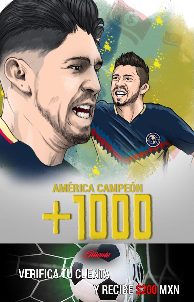 Si crees que América saldrá campeón del Apertura 17 aprovecha los súper momios mejorados de Caliente y llévate mucho dinero.
