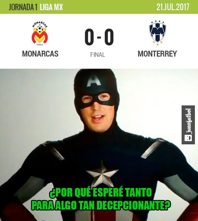 No hubo goles entre Morelia y Monterrey