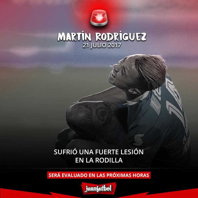 Martín Rodríguez se lesionó en el juego entre Cruz Azul y Tijuana