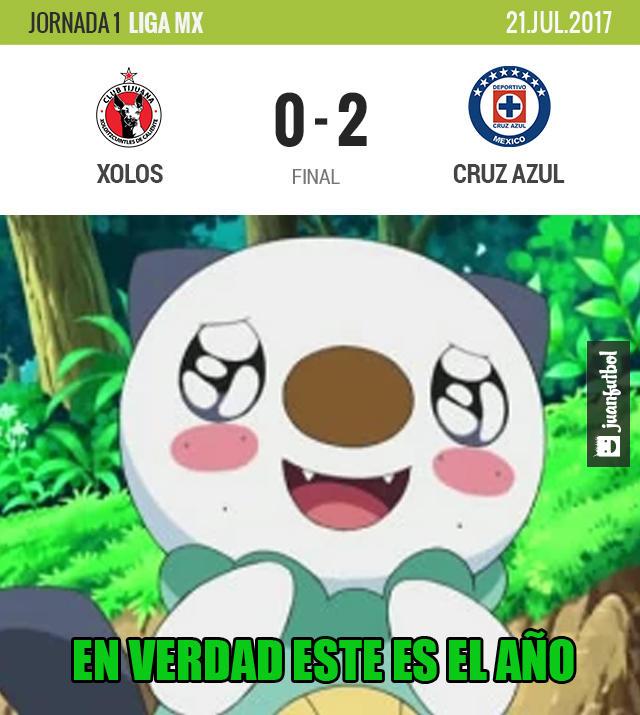 Cruz Azul ganó en su debut 2-0 a Xolos