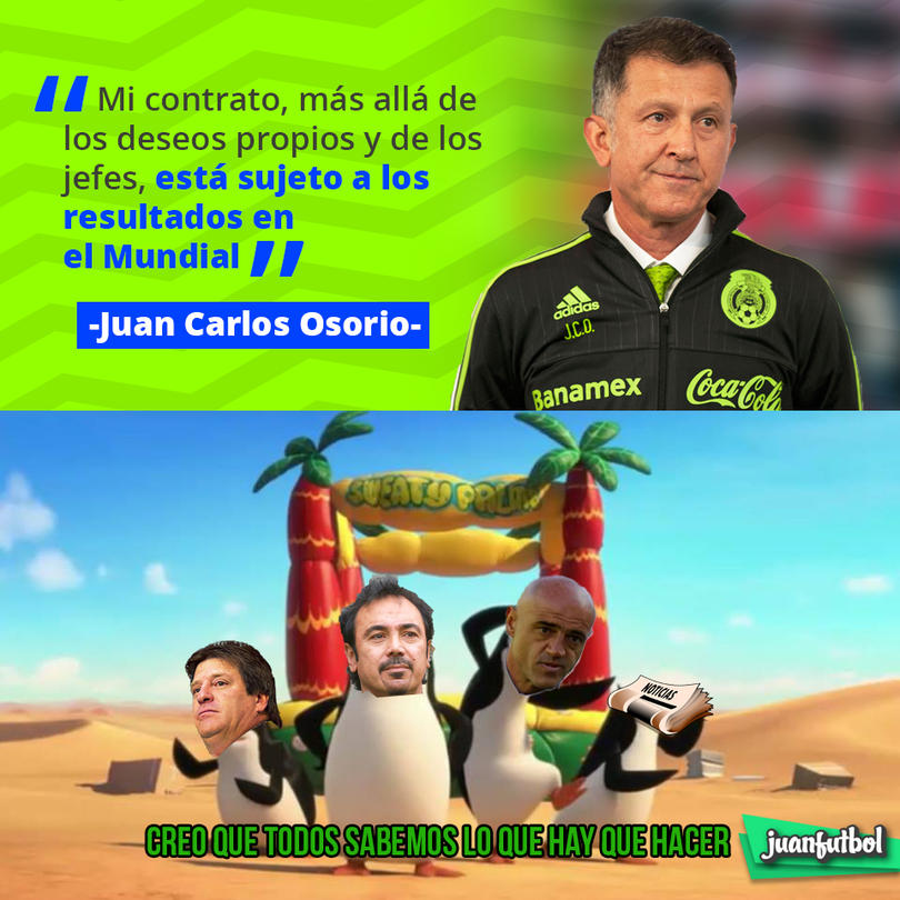 Juan Carlos Osorio sabe que su continuidad depende de hacer un buen Mundial en Rusia