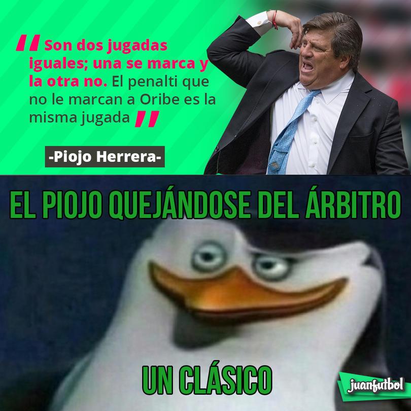 Miguel Herrera consideró que la jugada del penalti a favor de Gallos fue similar a una que no le marcaron a Oribe