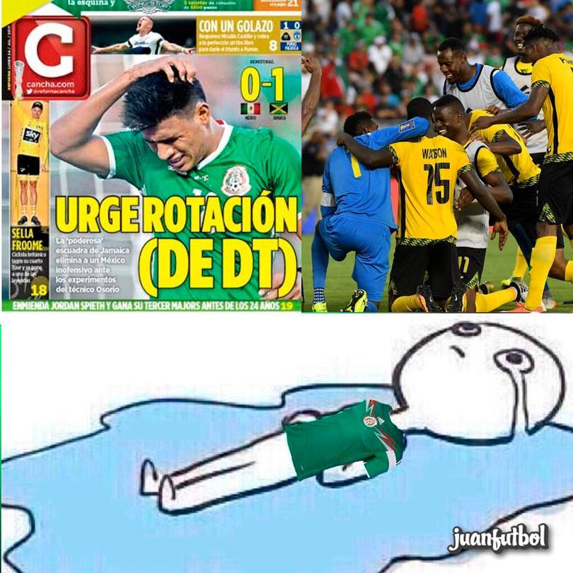 Así amanecimos después de la derrota de México frente a Jamaica.