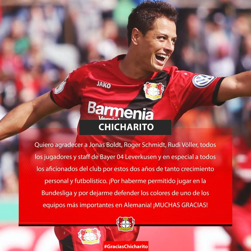 Chicharito se despide del Bayer