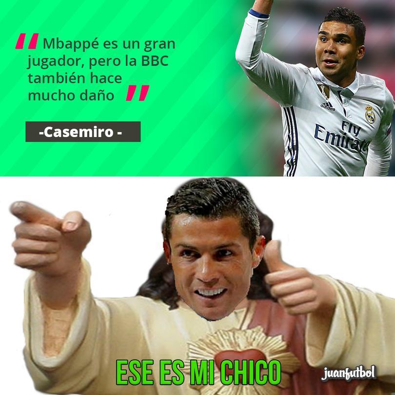 Casemiro habla sobre Mbappé